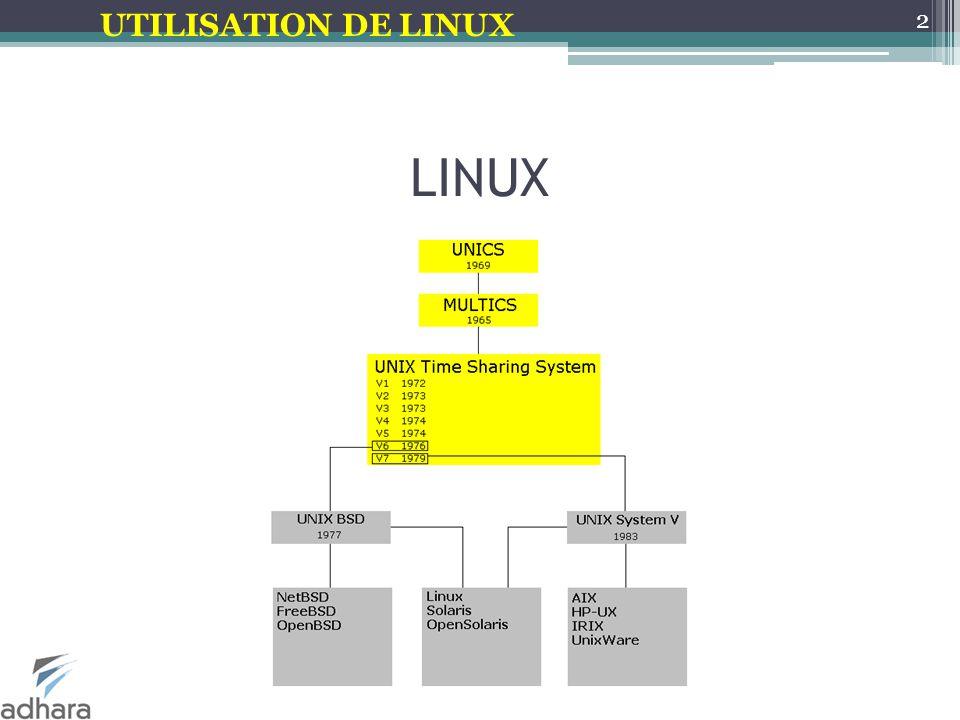 UTILISATION DE LINUX Différences Windows-Linux Le prix La licence Le choix des distributions Les applications Les utilisateurs 3