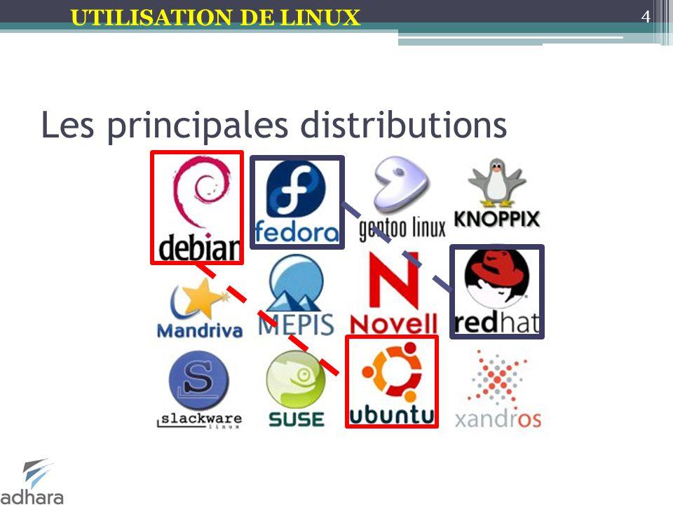 UTILISATION DE LINUX Les principales distributions 4
