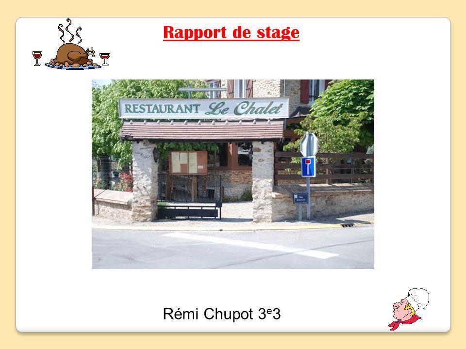 Rémi Chupot 3 e 3 Rapport de stage