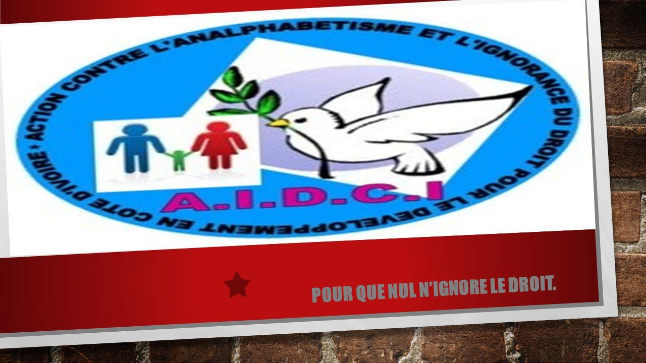 I- PRESENTATION QU'EST-CE QUE L'AIDCI .