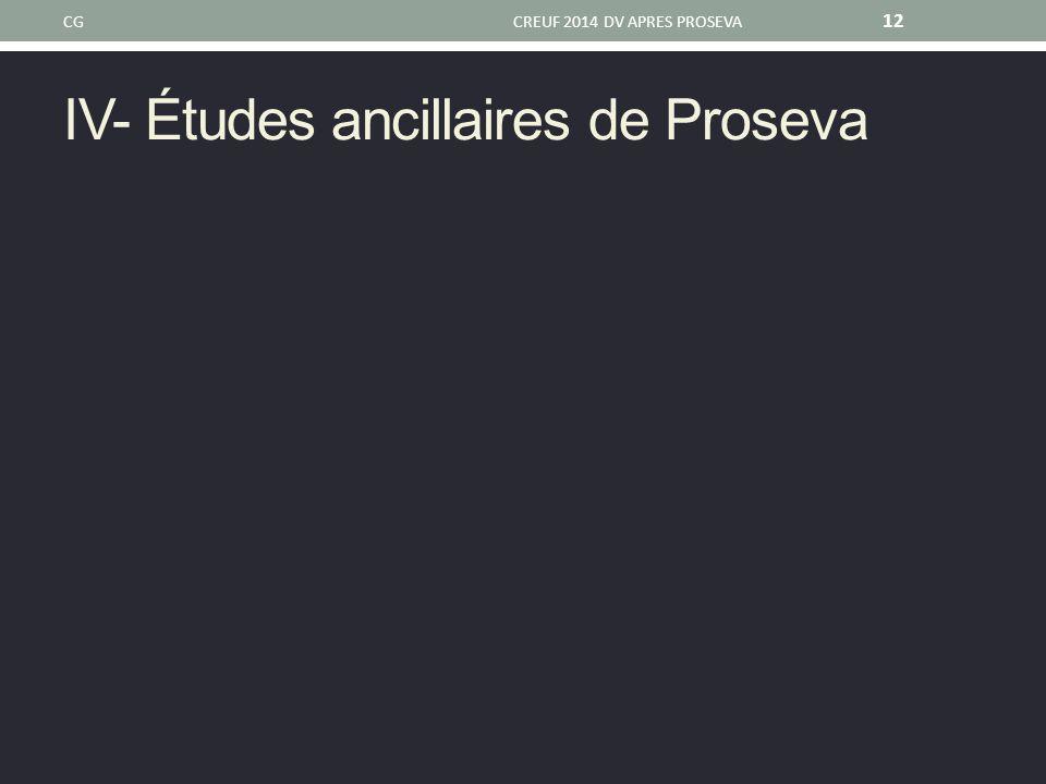IV- Études ancillaires de Proseva CGCREUF 2014 DV APRES PROSEVA 12