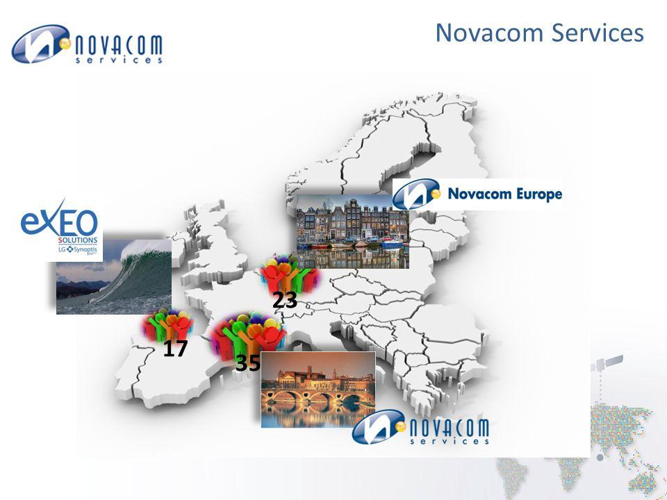 Novacom Services Renforcement de l'entreprise par croissance externe Métier de la collecte des déchets et collectivités locales 17 personnes de la société EXEO à Biarritz ont rejoint Novacom Bureau d'étude Développements informatiques Optimisation / trajets