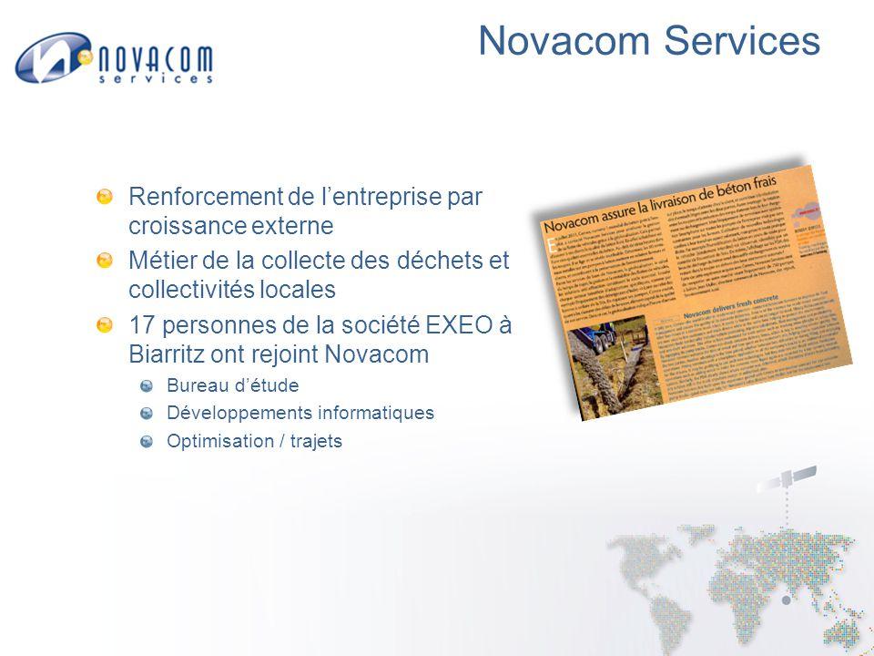 Novacom Services Continuité du service Confidentialité des données Redondance chaude au CNES Maintenance applicative 24/7
