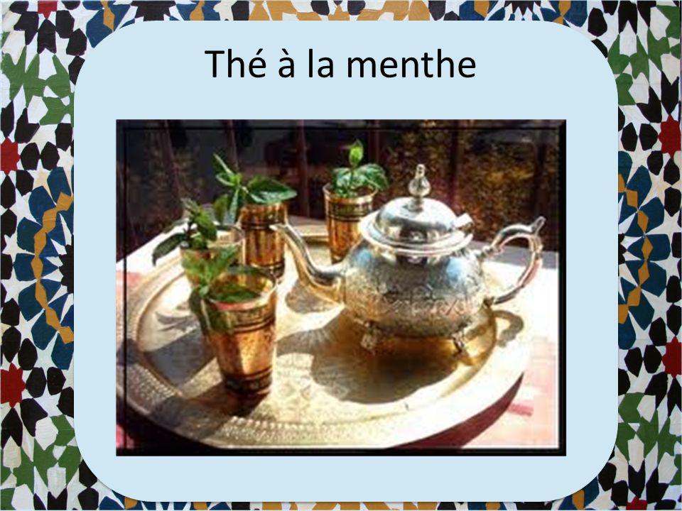 Quelle boisson est associée avec le Maghreb? a)Le coca b)Le champagne c)L'Orangina d)Le thé à la menthe a)Le coca b)Le champagne c)L'Orangina d)Le thé