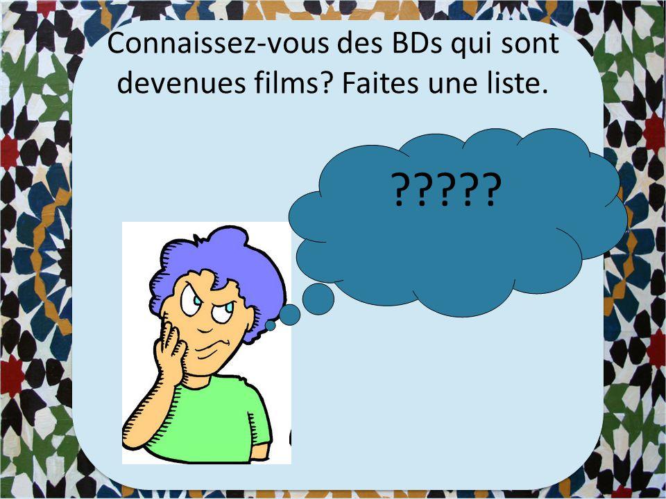Des BDs français
