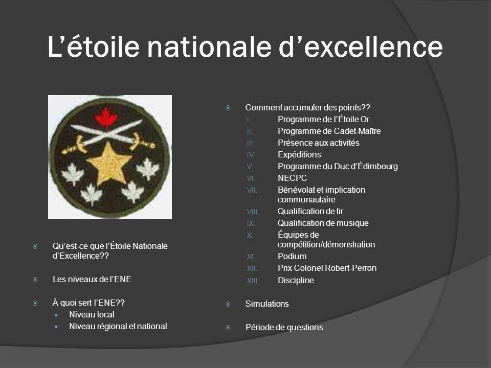 Qu'est ce que l'Étoile Nationale d'Excellence?.