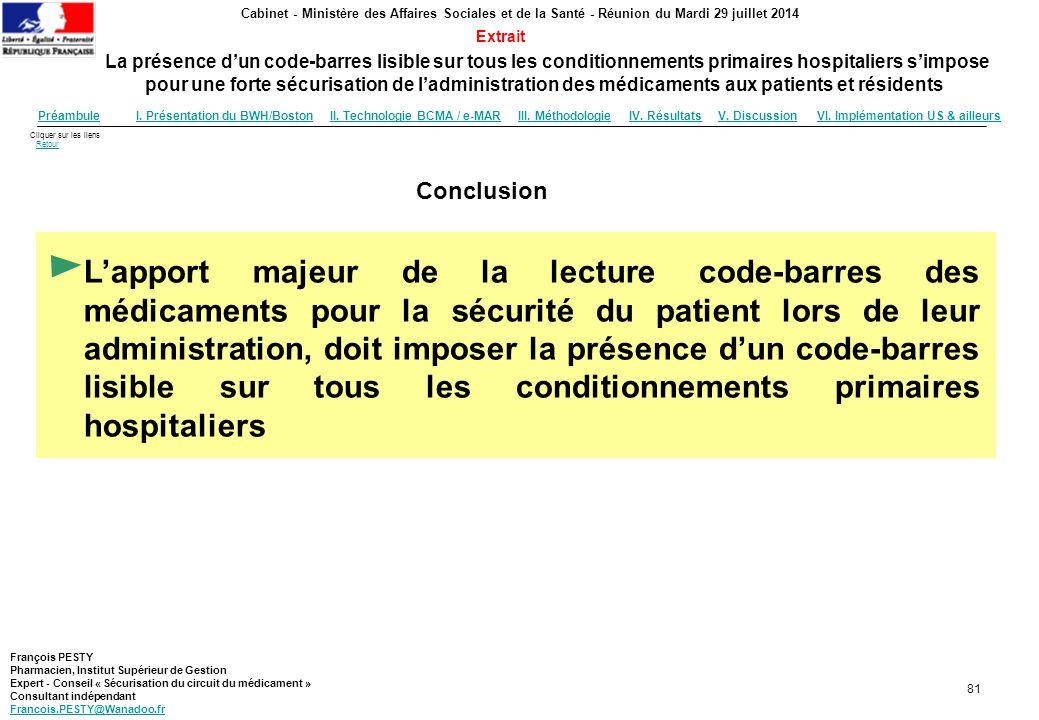 Cliquer sur les liens RetourRetour Cabinet - Ministère des Affaires Sociales et de la Santé - Réunion du Mardi 29 juillet 2014 La présence d'un code-b