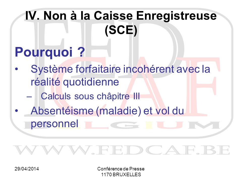 29/04/2014Conférence de Presse 1170 BRUXELLES Pourquoi .