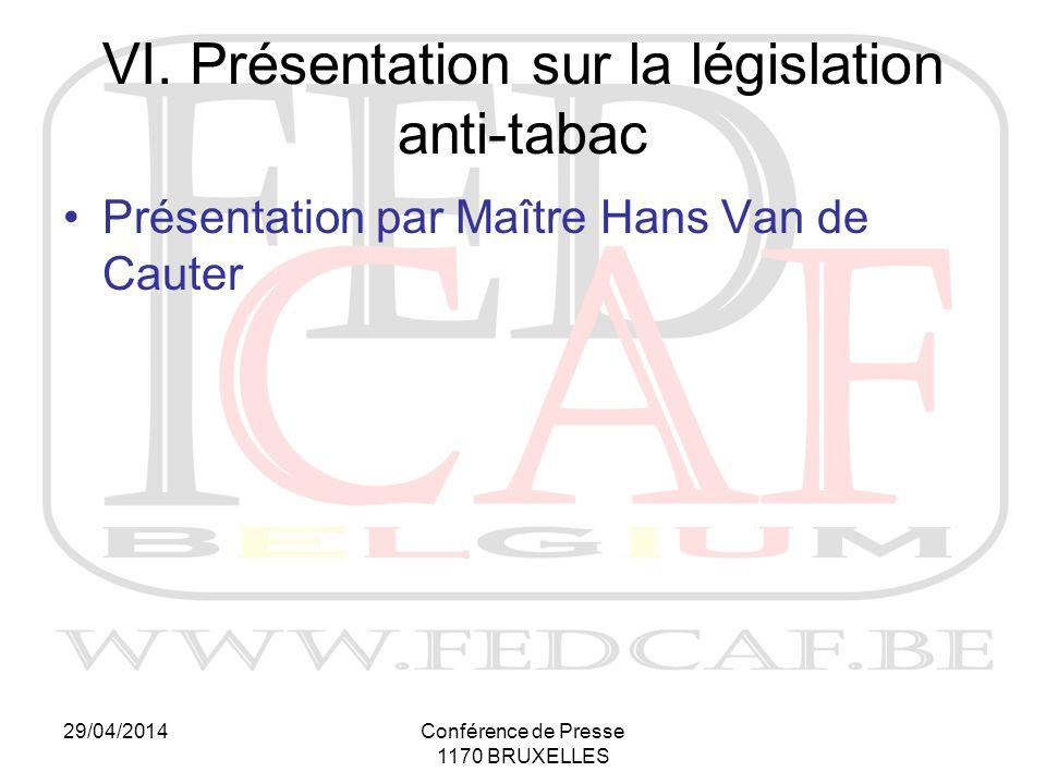 29/04/2014Conférence de Presse 1170 BRUXELLES VI.