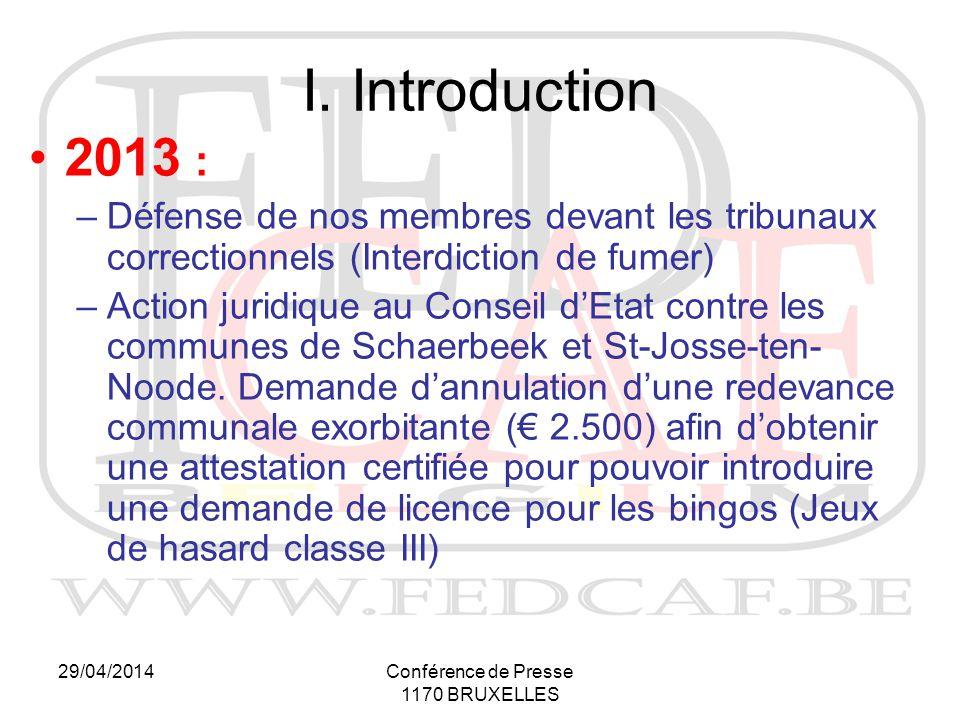 29/04/2014Conférence de Presse 1170 BRUXELLES I.