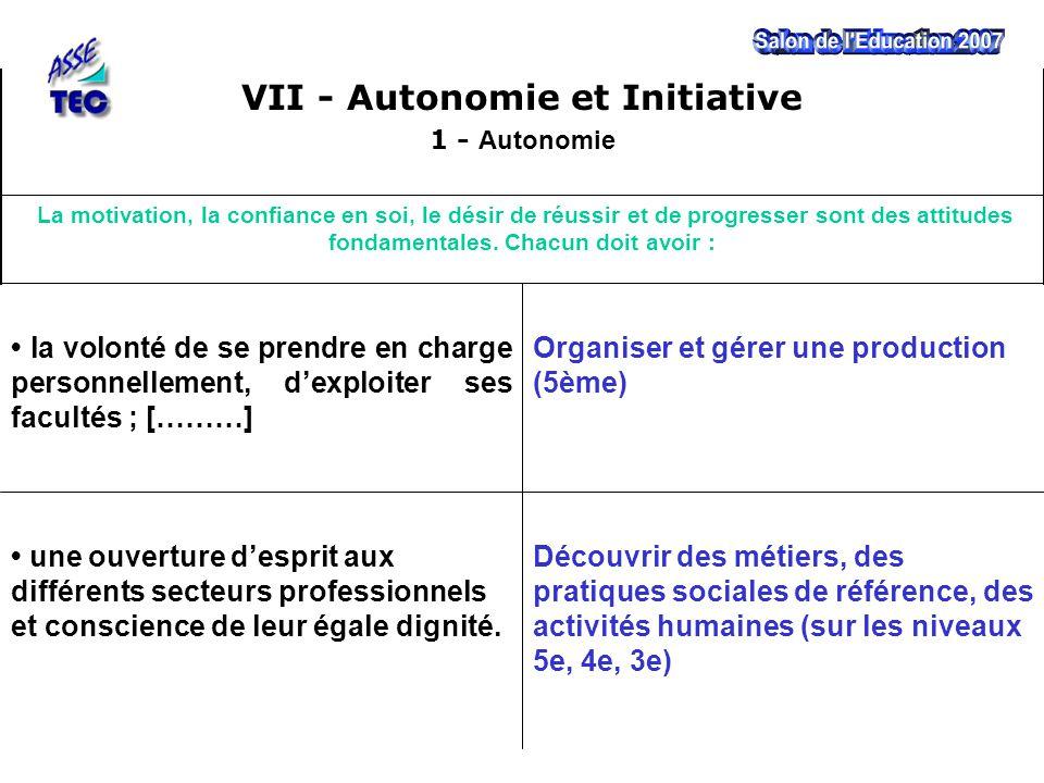 Découvrir des métiers, des pratiques sociales de référence, des activités humaines (sur les niveaux 5e, 4e, 3e) une ouverture d'esprit aux différents