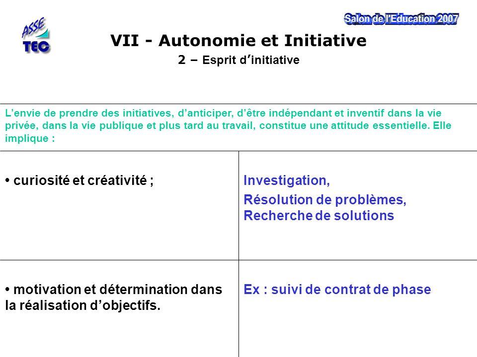 Ex : suivi de contrat de phase motivation et détermination dans la réalisation d'objectifs. Investigation, Résolution de problèmes, Recherche de solut