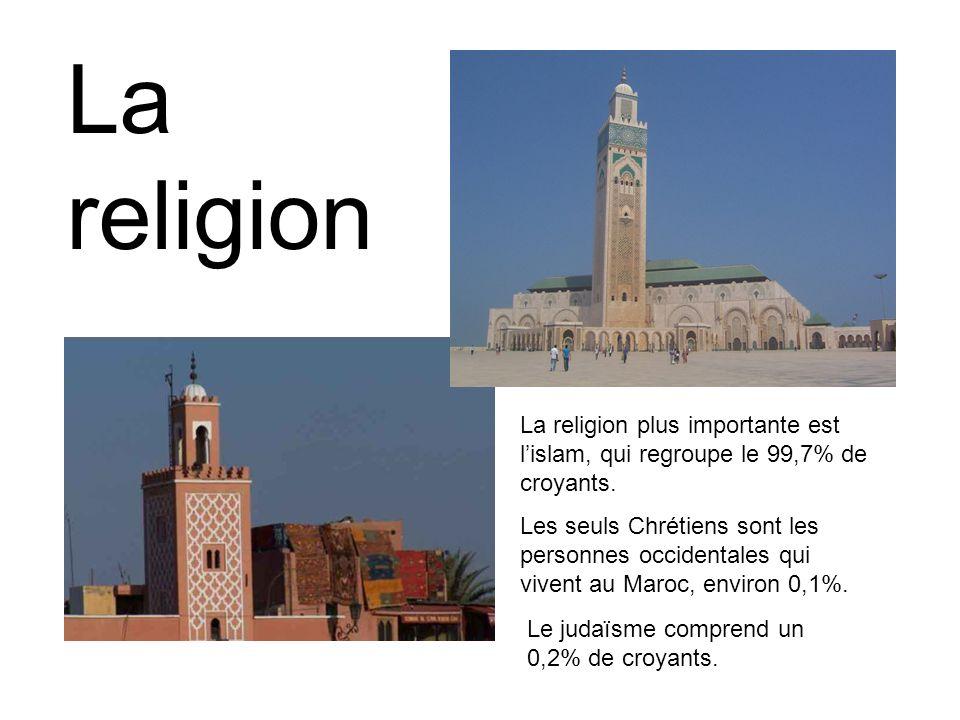 La religion plus importante est l'islam, qui regroupe le 99,7% de croyants.