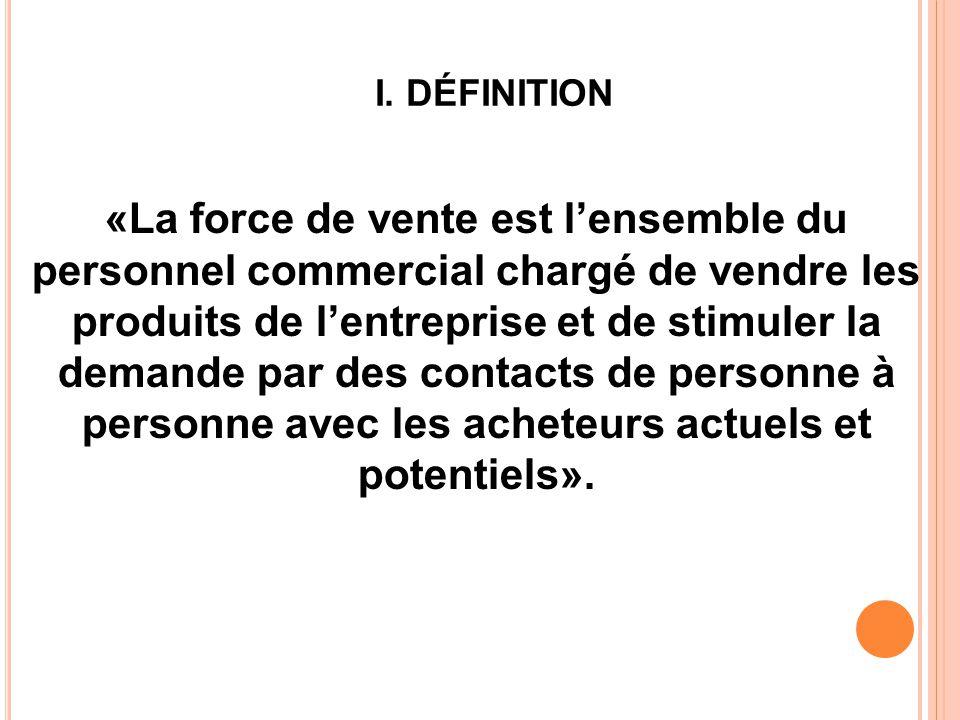 C) La répartition par marchés : les vendeurs se répartissent en fonction des clients et des segments de marché.