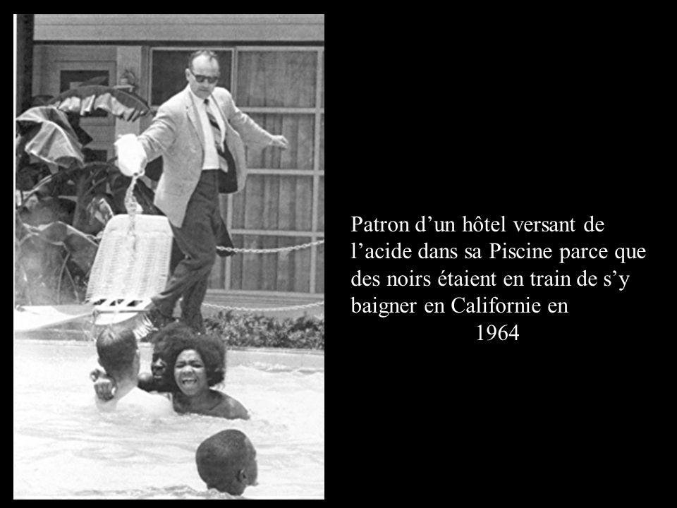 Patron d'un hôtel versant de l'acide dans sa Piscine parce que des noirs étaient en train de s'y baigner en Californie en 1964