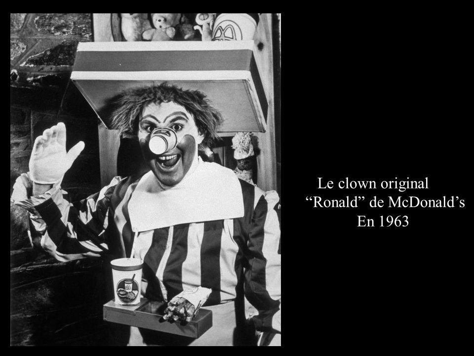 """Le clown original """"Ronald"""" de McDonald's En 1963"""