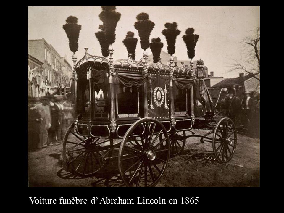 Voiture funèbre d' Abraham Lincoln en 1865