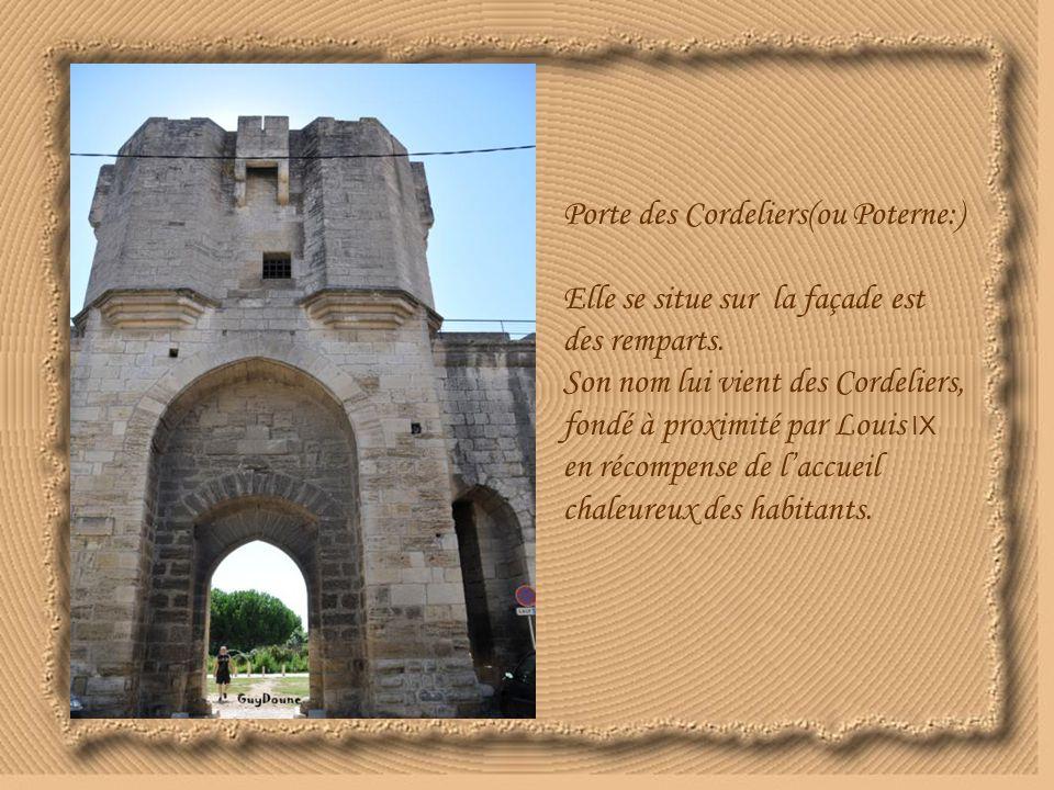 Porte des Cordeliers(ou Poterne:) Elle se situe sur la façade est des remparts.