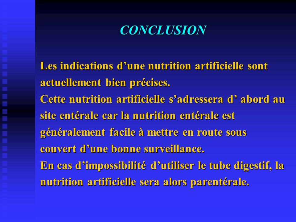 C O M P L I C A T I O N S (V) Prévention de l'intolérance digestive haute  Bonne position de la sonde gastrique  Malade demi-assis  Erythromycine :