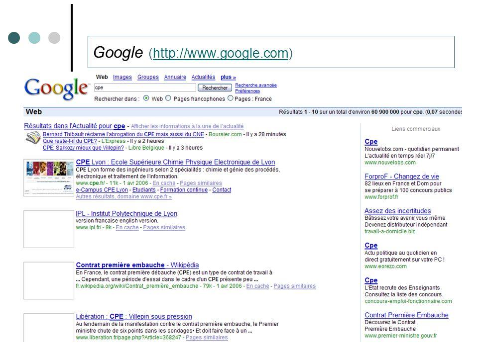 Thibault ROY – Université de Caen – Laboratoire GREYC49 Google (http://www.google.com)http://www.google.com