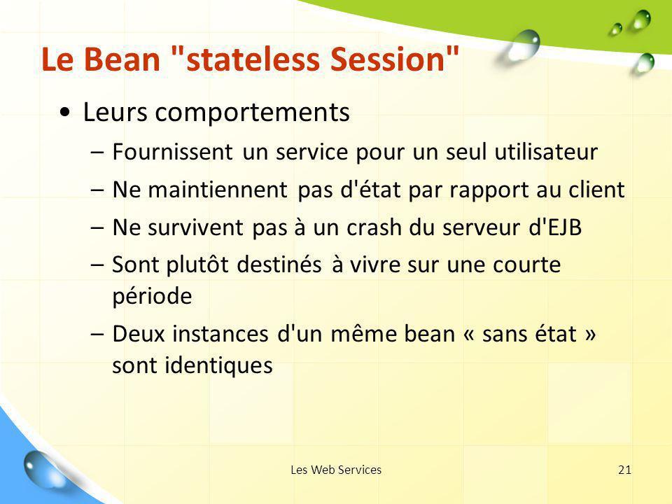 Les Web Services21 Le Bean