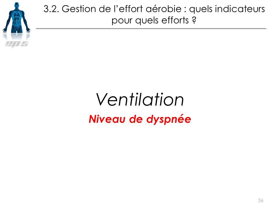 Ventilation Niveau de dyspnée 56 La leçon de Muscu en EPS Musculation : à partir de Quand ? Quoi ? La leçon de Muscu en EPS Musculation : à partir de