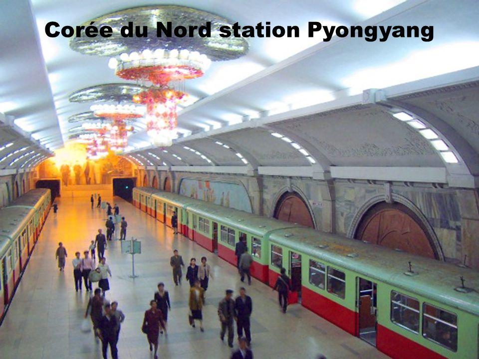 Corée du Nord station Pyongyang