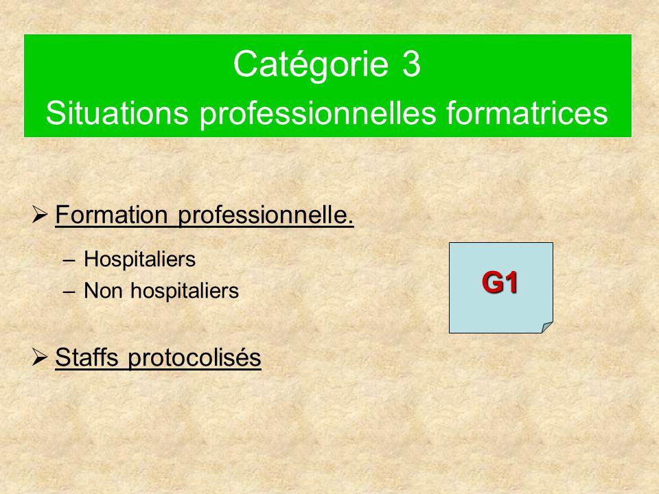 Catégorie 3 Situations professionnelles formatrices  Formation professionnelle.