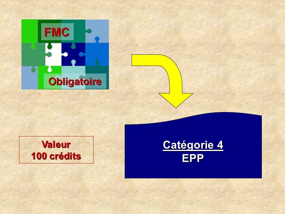 Catégorie 4 EPP Valeur 100 crédits