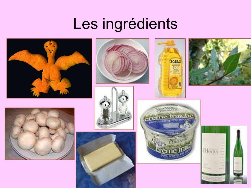 Les ingrédients