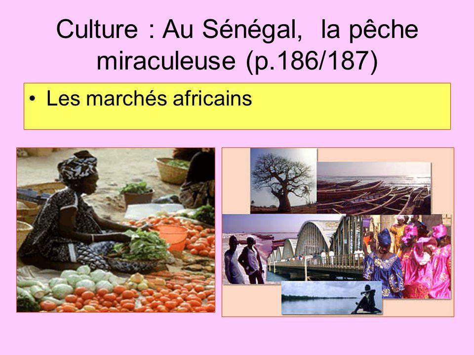 Culture : Au Sénégal, la pêche miraculeuse (p.186/187) Les marchés africains