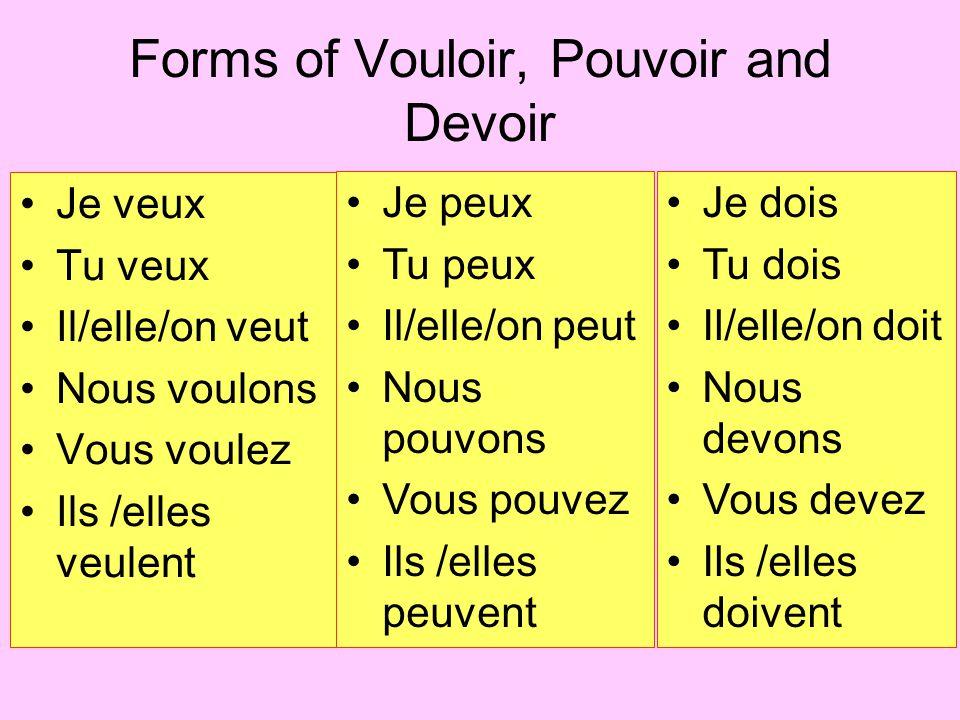 L'expression impersonnelle : il faut The expression il faut is the impersonal form of the verb FALLOIR.