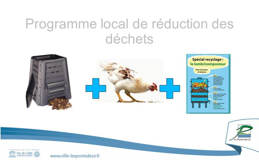 Rapport ALM mai 2012, la commune des Ponts-de-Cé 2012 205 kg Par habitant 2020 195 kg par habitant - 5 kg Objectif: à l'horizon 2020 Réduire de 5% le poids des ordures ménagères et assimilées 2017 -10 kg