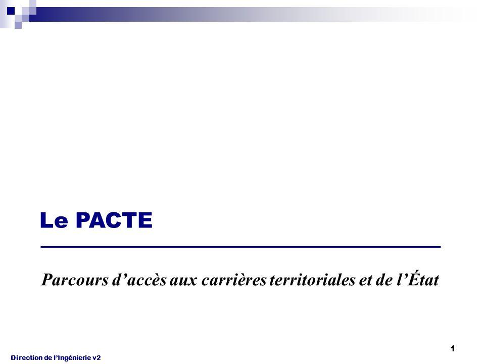 Direction de l'Ingénierie v2 1 Le PACTE Parcours d'accès aux carrières territoriales et de l'État
