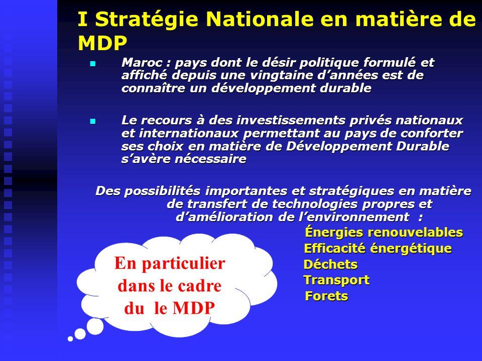 Évaluation et Approbation des projets MDP Maroc Réception de la NIP par l'AN MDP Première Évaluation :NIP (Réponse : maximum 2 Semaines) Deuxième Évaluation :DCP (Réponse : maximum 4 Semaines) Lettre d'Approbation délivrée au promoteur du projet par l'AN MDP Maroc Projet non accepté
