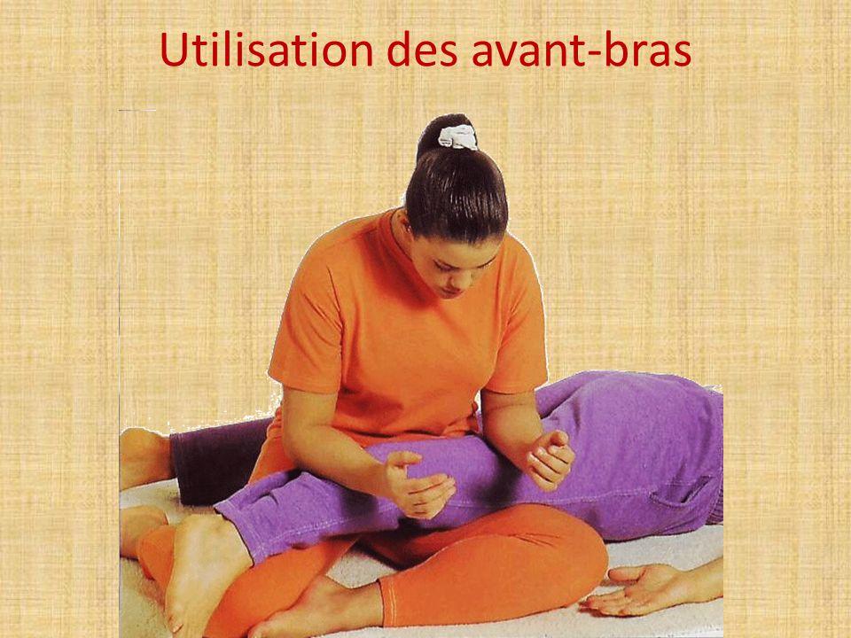 Utilisation des avant-bras