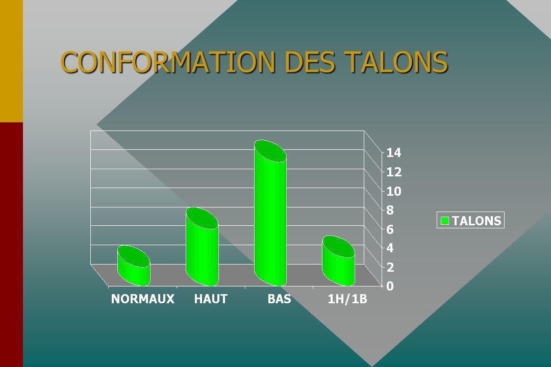 CONFORMATION DES TALONS