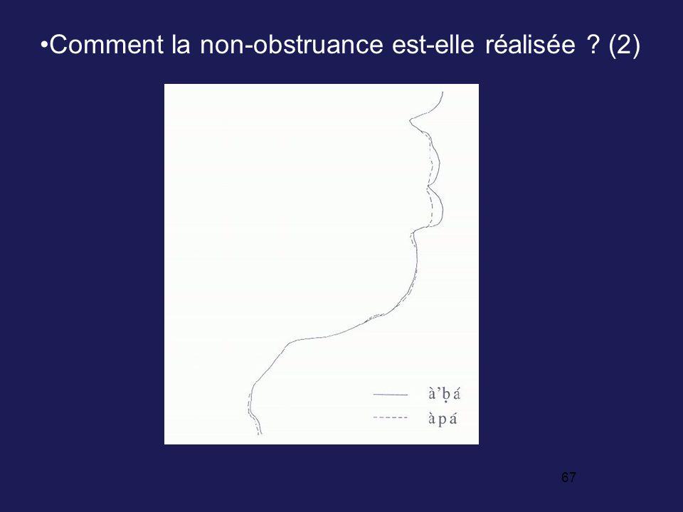 66 Les consonnes /ˆ/ et / ˆ/ sont des non obstruantes /apa/ (obstruante)/a ˆa/ (non obstruante) 2.