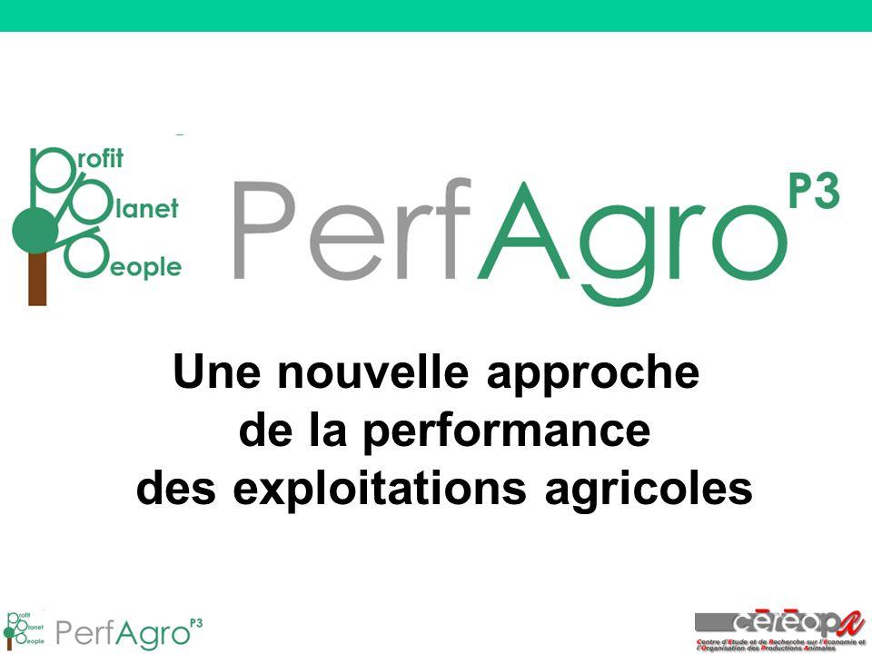 Une nouvelle approche de la performance des exploitations agricoles
