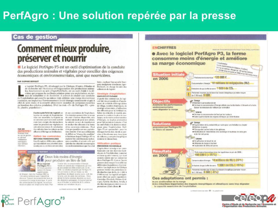 PerfAgro : Une solution repérée par la presse