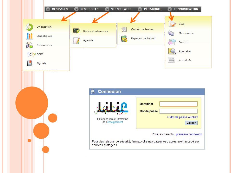 Les CDT peuvent être créés : - Soit automatiquement, - Soit par un professeur (et partagé par celui-ci aux différents utilisateurs) Le CDT côté élève ou parent Le CDT côté enseignant