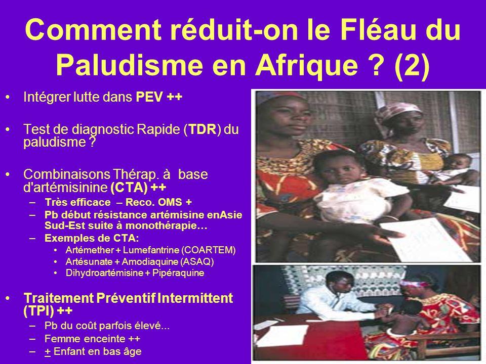 Comment réduit-on le Fléau du Paludisme en Afrique .
