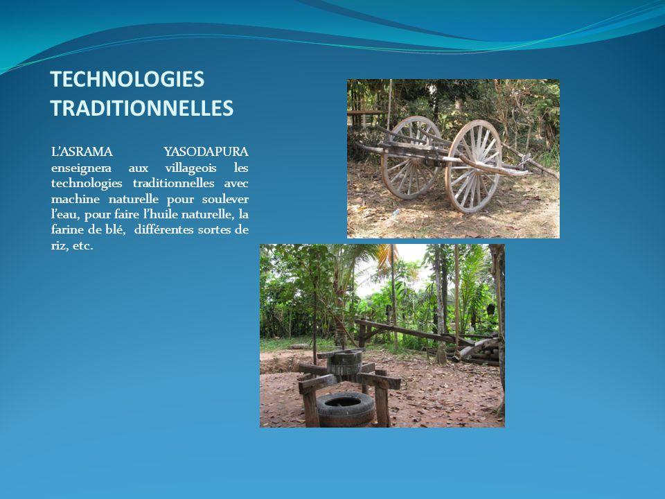 TECHNOLOGIES TRADITIONNELLES L'ASRAMA YASODAPURA enseignera aux villageois les technologies traditionnelles avec machine naturelle pour soulever l'eau