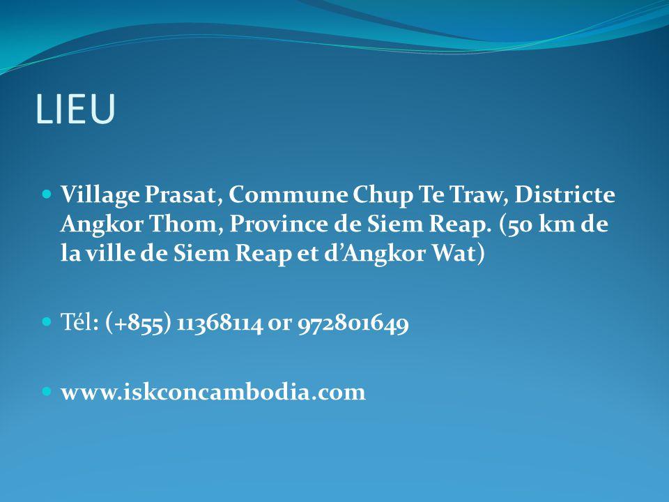 LIEU Village Prasat, Commune Chup Te Traw, Districte Angkor Thom, Province de Siem Reap. (50 km de la ville de Siem Reap et d'Angkor Wat) Tél: (+855)