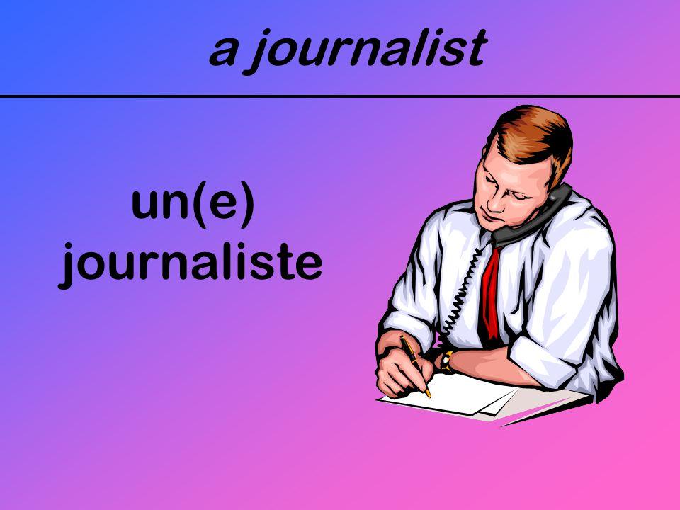 a journalist un(e) journaliste