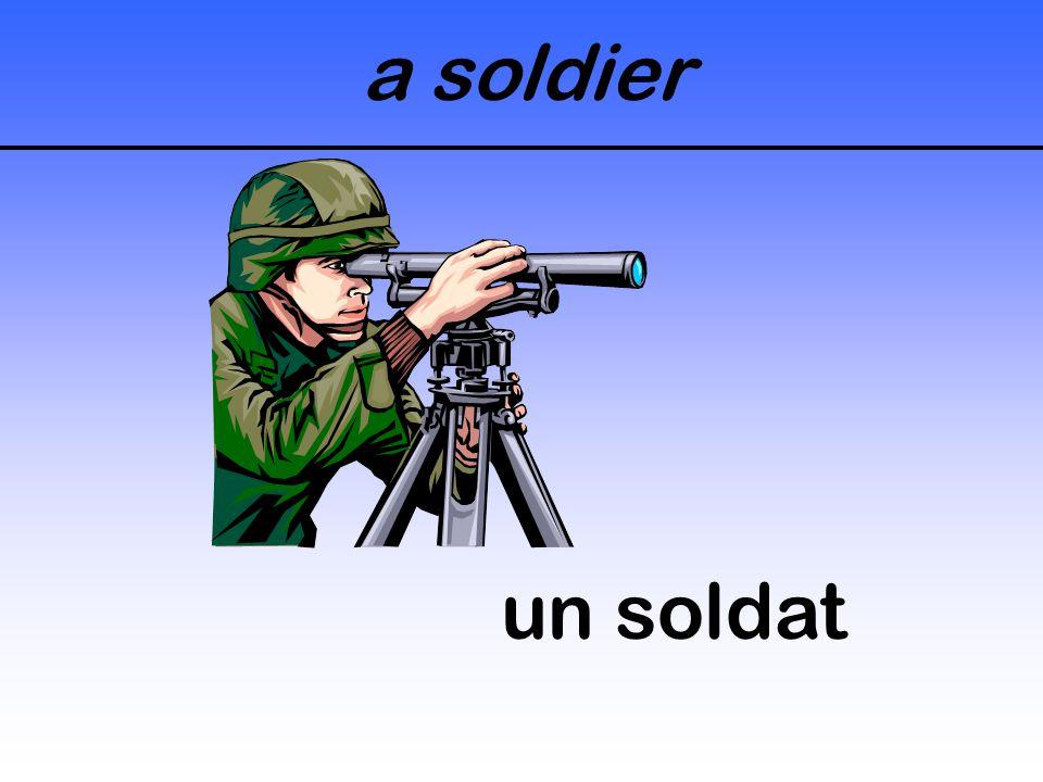 a soldier un soldat