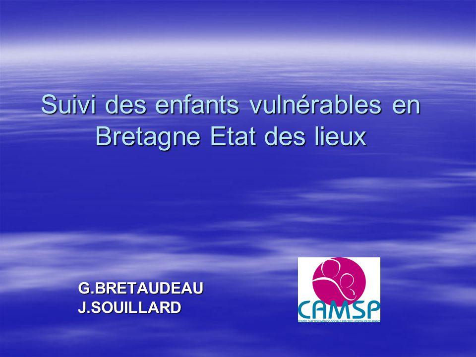 Suivi des enfants vulnérables en Bretagne Etat des lieux G.BRETAUDEAUJ.SOUILLARD