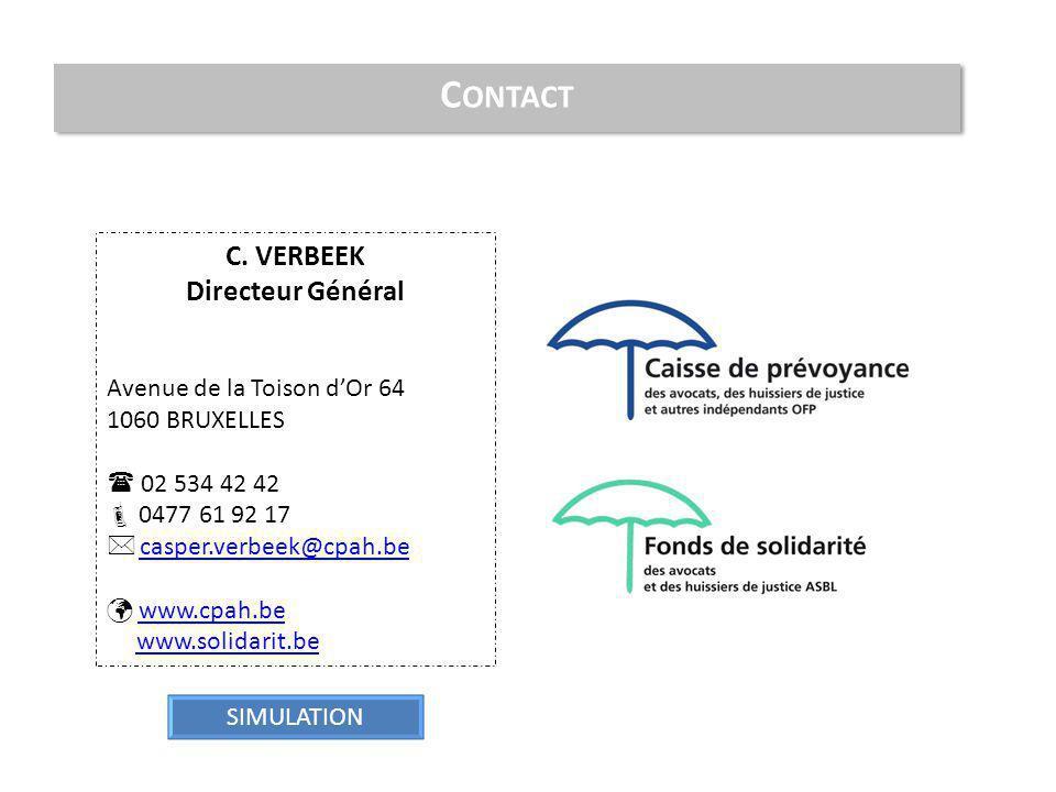C. VERBEEK Directeur Général Avenue de la Toison d'Or 64 1060 BRUXELLES  02 534 42 42  0477 61 92 17  casper.verbeek@cpah.be casper.verbeek@cpah.be