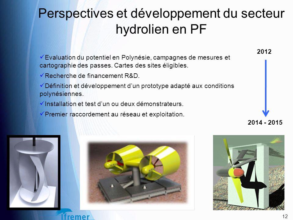 Perspectives et développement du secteur hydrolien en PF Evaluation du potentiel en Polynésie, campagnes de mesures et cartographie des passes.