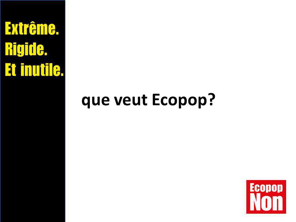 que veut Ecopop